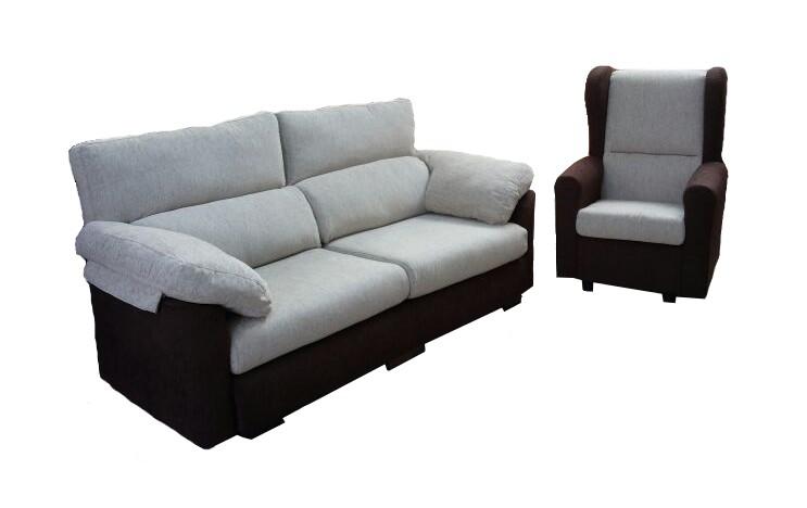 Venta sof s de f brica en terrassa reparaci n retapizado for Sofa respaldo alto
