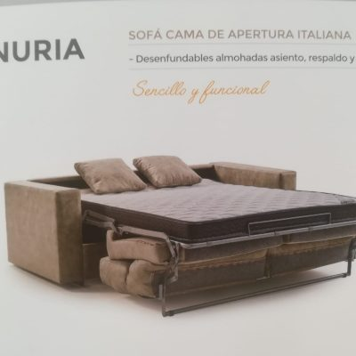 sofa cama nuria desplegado